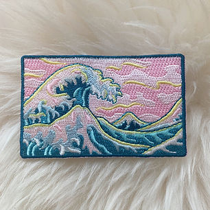 Japanese Wave patch designed by Emily Lopuch for Wildflower and Company.