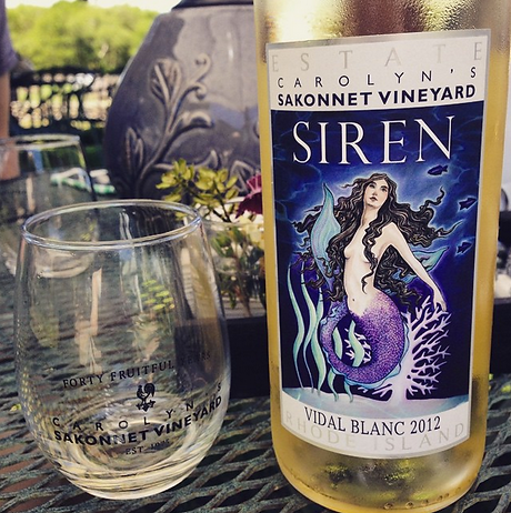Siren Wine Label designed by Emily Lopuch for Sakonnet Vineyards.