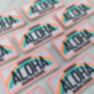 Aloha License Plate patch designed by Emily Lopuch for Wildflower and Company.