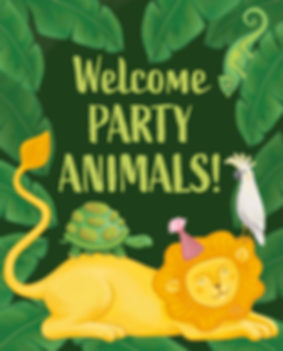 Party Animals Birthday Poster by Emily Lopuch.