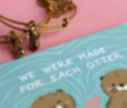 Otter jewelry designed by Emily Lopuch for Alex and Ani and JDRF.