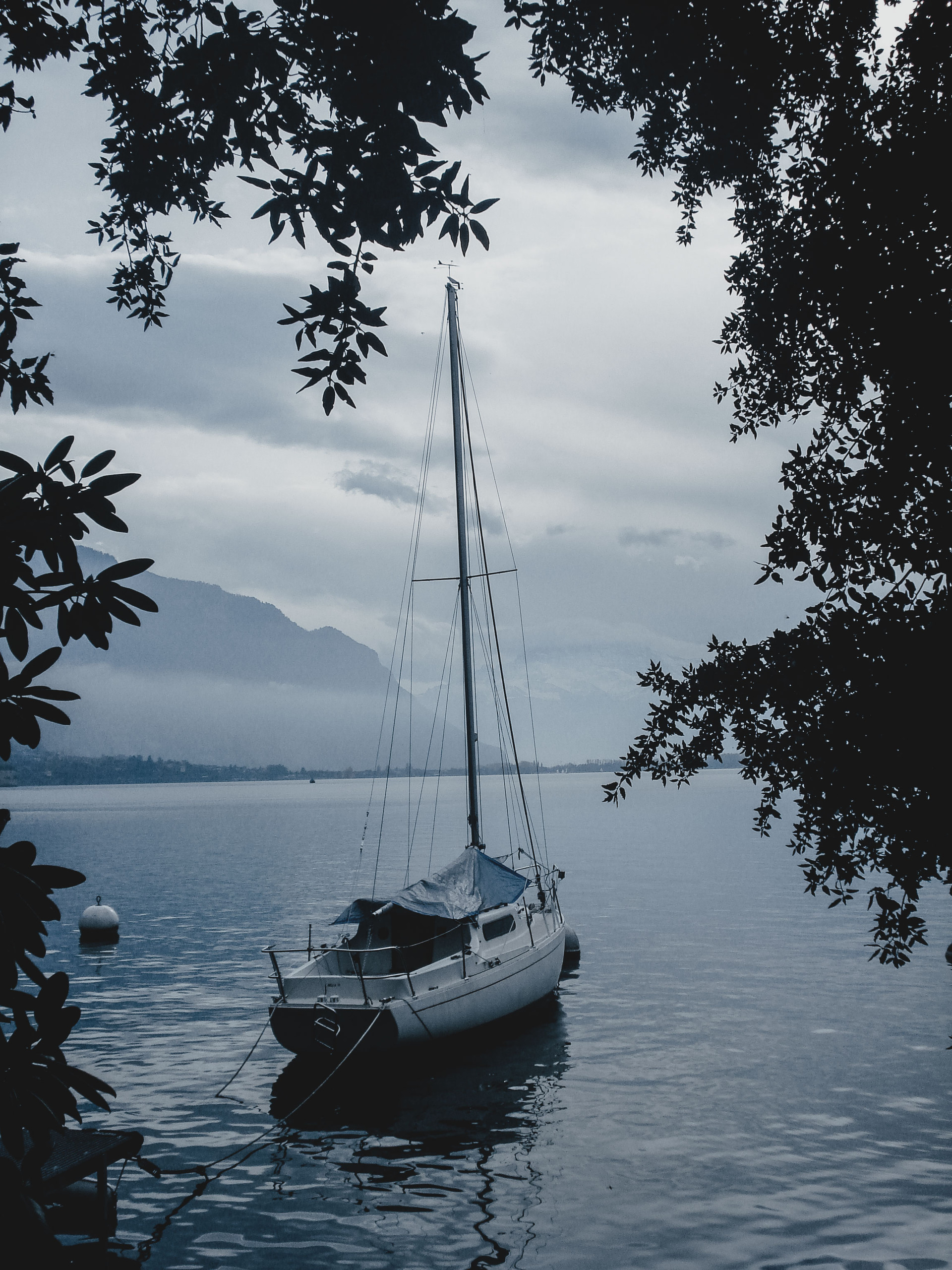 Sailboat in Montreux