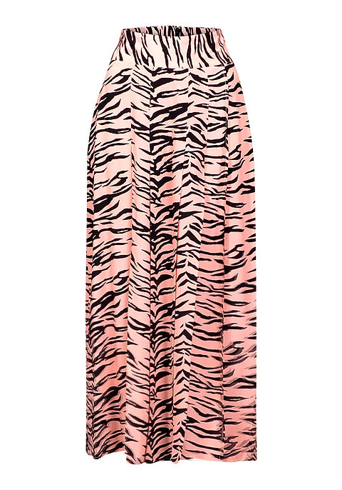 picked up factory authentic wholesale TopShop Pink Animal Zebra Print Midi Skirt - Ex Chainstore Size UK ...