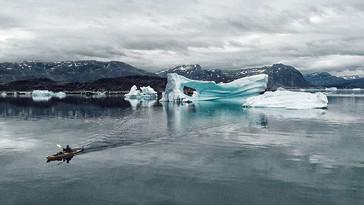 Kayaking amongst giants