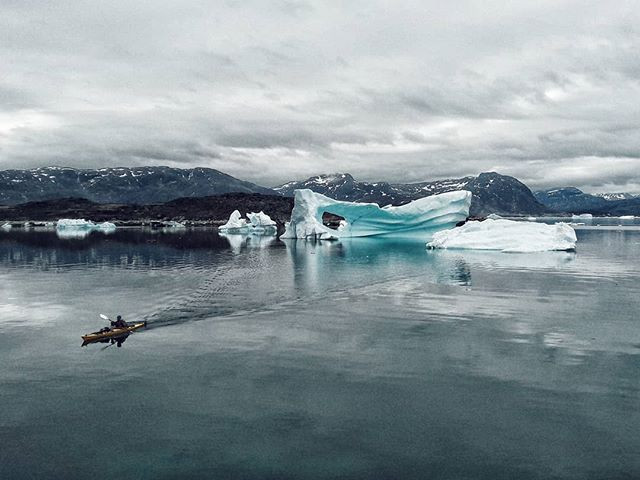 Kayaking amongst giants