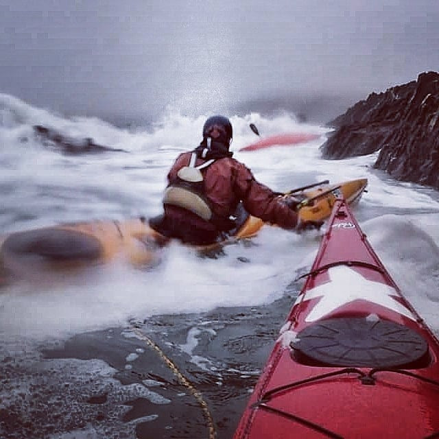 When kayaking at sea it's all about balance!