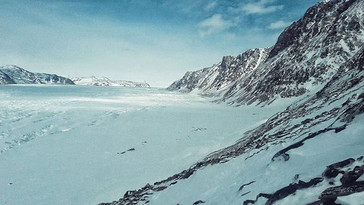 Our access route to the inlandsis, Greenland