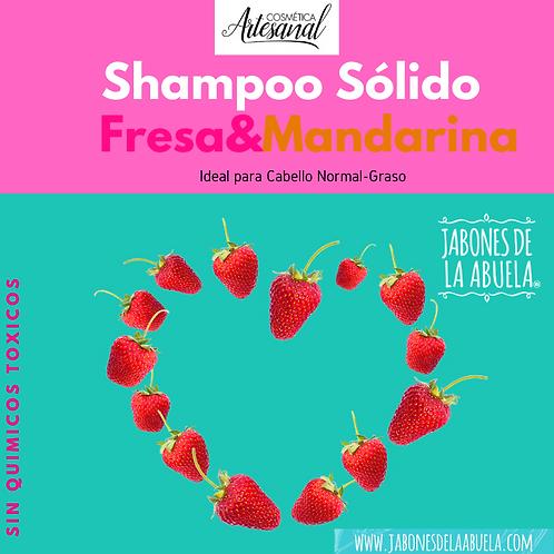 Shampu Sólido EN LATA  Fresa-Mandarina