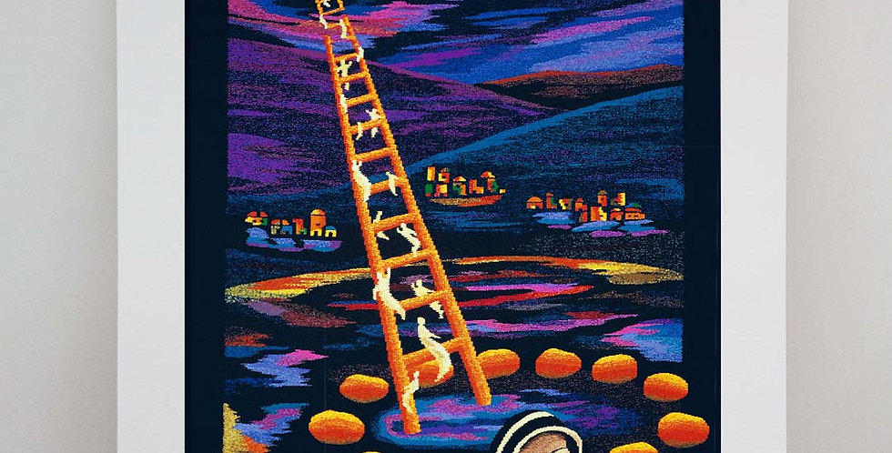 JACOB'S LADDER - Card mounted & signed