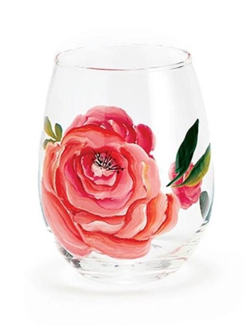 In Full Bloom Stemless Wine Glass