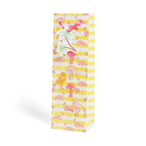 Flamingo Bottle Bag + Glass Markers