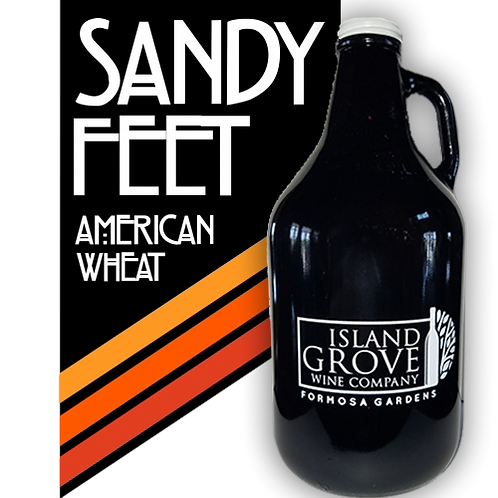 Full Growler of Sandy Feet Pale Ale