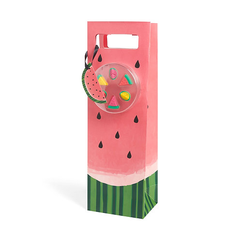 Watermelon Bottle Bag + Glass Markers
