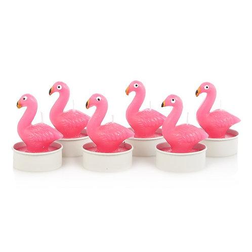 Flamingo Flock Party Tea Candles