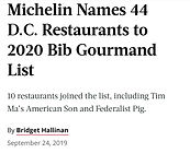 michelin names 44 d.c. restuarants to 20