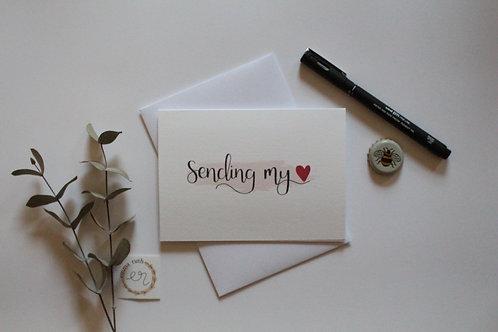 """Sending my love"" Card"
