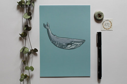 - The Big Blue Whale Print - (Available in 2 sizes)