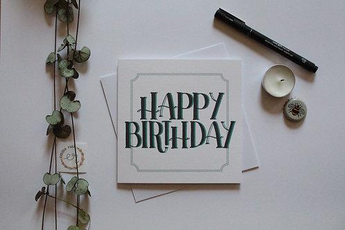 "Green ""Happy Birthday"" Card"