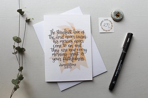 Lamentations Card