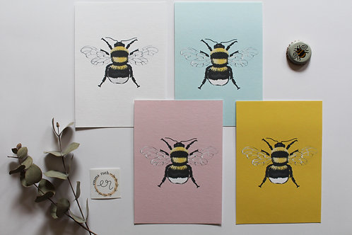 Bee Set of 4 Notecards