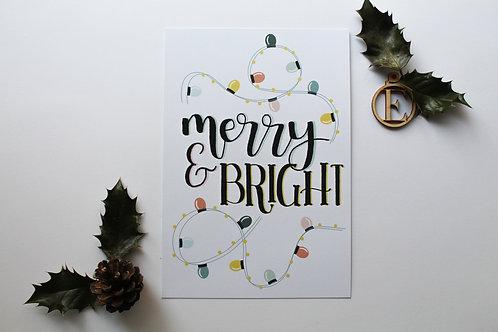"""merry & bright"" Print"