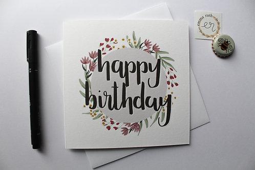 Birthday Card | Flower 3