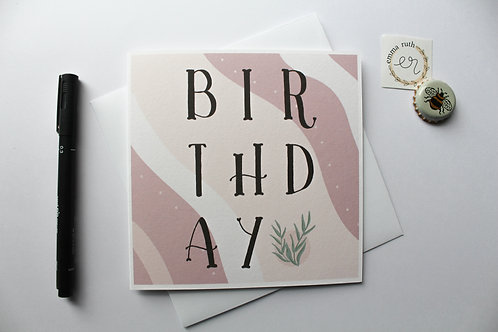 Birthday Card | Flora 3