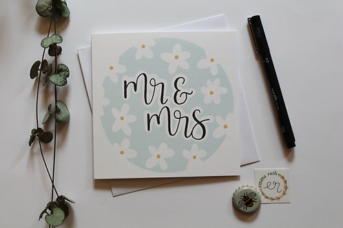 """Mr & Mrs"" Card"