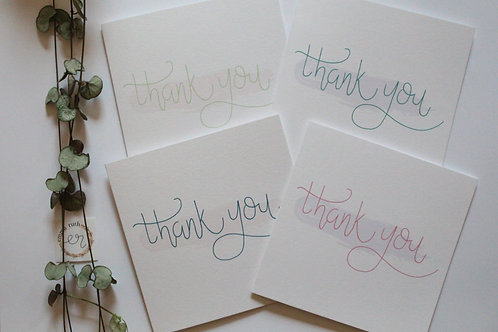 """Thank you"" Pack of 4 Cards"