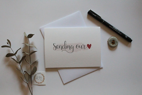 """Sending our love"" Card"