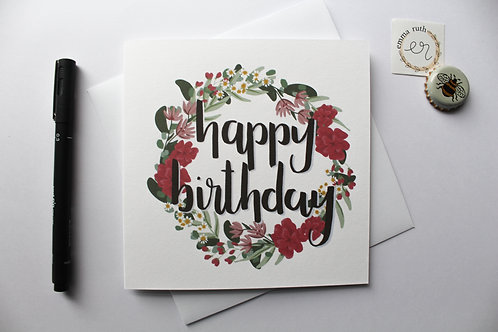 Birthday Card | Flower 1