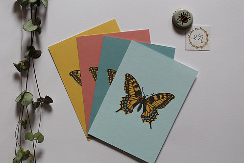 Butterfly Set of 4 Notecards