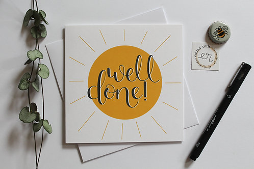 """Well Done"" Card"