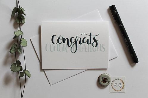"""""""Congrats""""Card"""