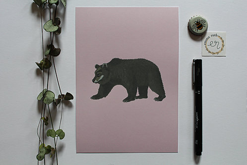 - The Brown Bear Print - (Available in 2 sizes)