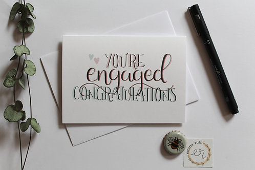 """You're Engaged"" Card"