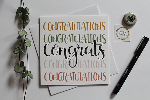 """Congrats"" Square Card"