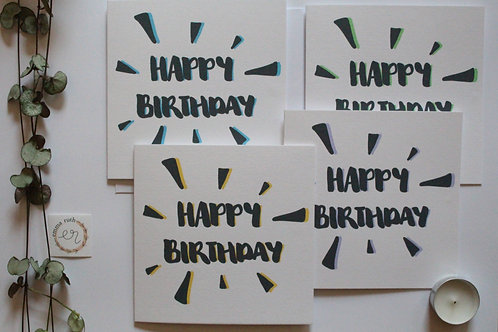 Pack of 4 Birthday Cards