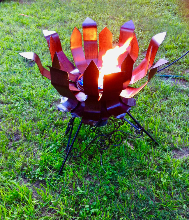 """Flaming Lotus Fire Pit"""