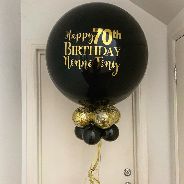 Personalised Balloon With Confetti Collar
