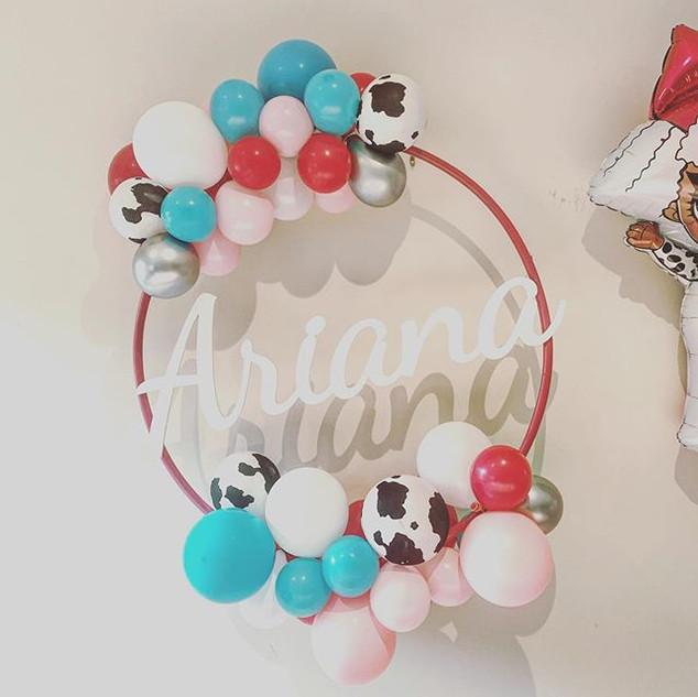 Personalised Balloon Hoop! Ariana celebr