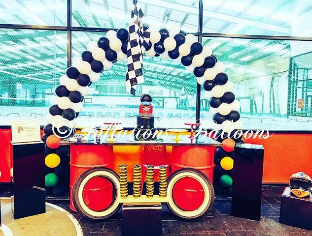#inflationsballoons #racingtheme #arch #