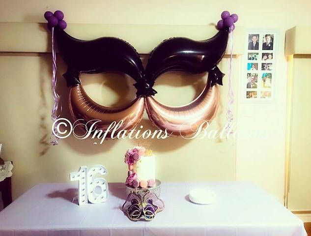#inflationsballoons #balloons #masquerad