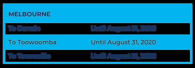 Flight Schedule (MEL)_SUSPENDED SERVICES