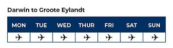 Flight Tables- Darwin to Groote Eylandt.