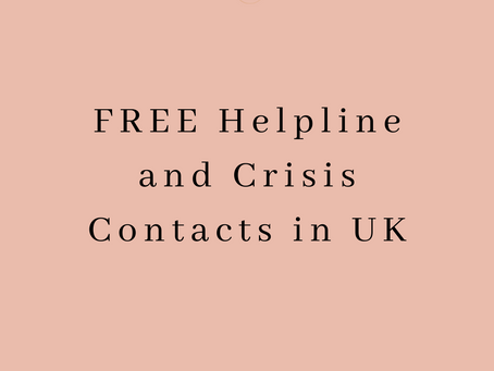 FREE Helpline and Crisis Contacts in UK