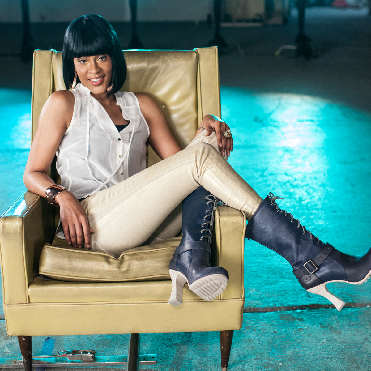 Shontelle Layne for CAT Shoes