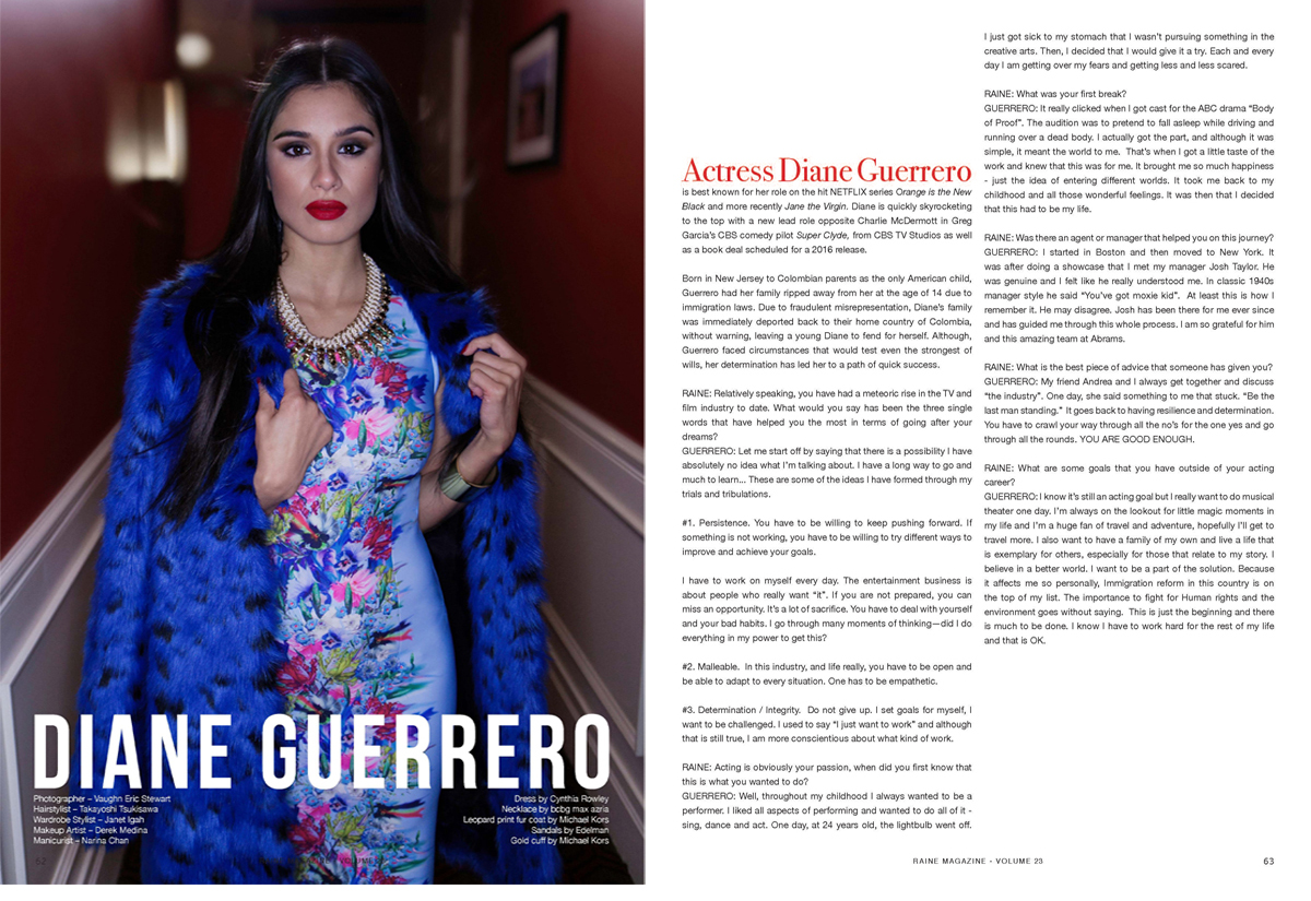 Daine Guerrero for Raine Magazine