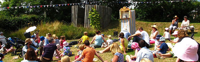 Punch and Judy at St Stephen's Millennium Green Summer Fair 2013