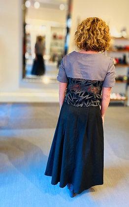 Pleated Sheath Skirt